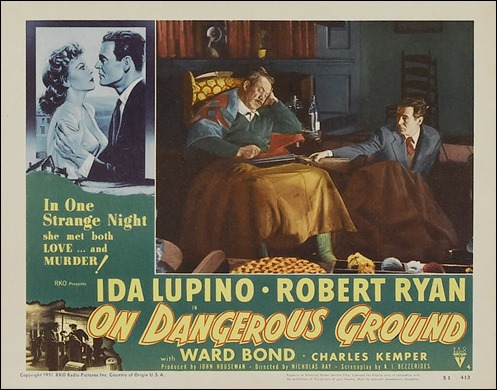 Ryan y Ward Bond, en On Dangerous Ground