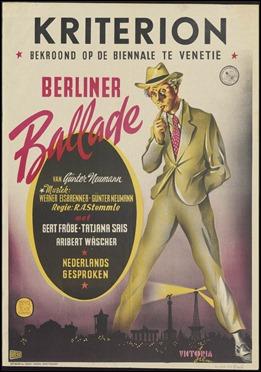 Cartel alemán de La balada de Berlín