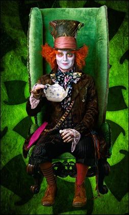 Johnny Depp como el Sombrerero de Tim Burton