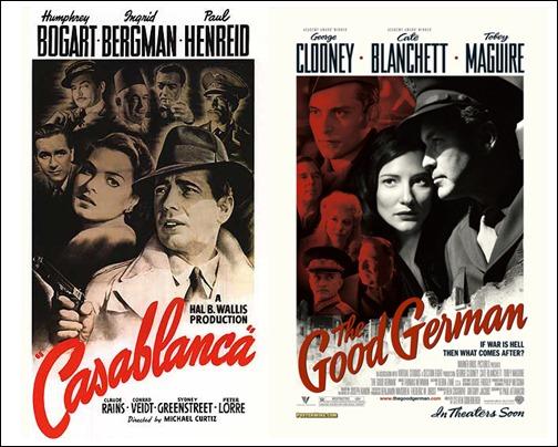 Parecidos razonables e inocuos, entre Casablanca y El buen alemán