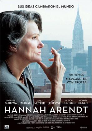 Póster español de la película Hannah Arendt
