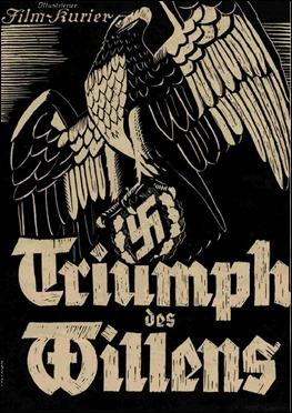 Cartel anunciador de El triunfo de la voluntad, de Leni Riefenstahl