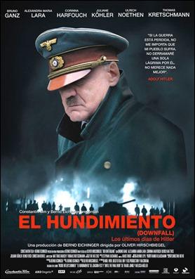 Poster de El hundimiento, con Bruno Ganz como Hitler