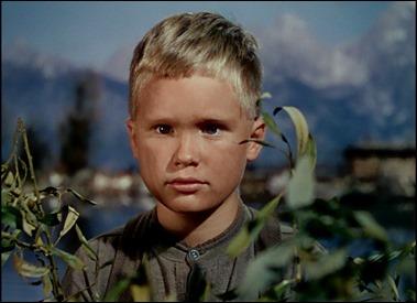Brandon de Wilde es Joey, el pequeño que admira a Shane sin condiciones