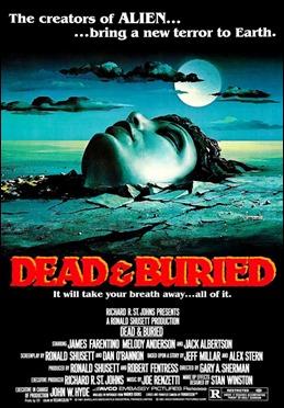 Cartel americano de Muertos y enterrados
