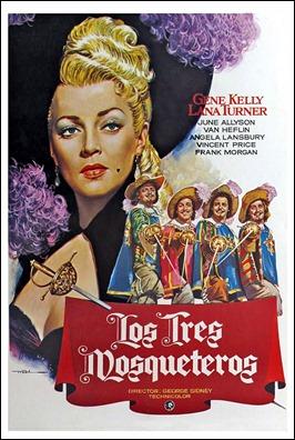 Cartel español de Los tres mosqueteros, de 1948