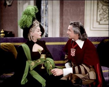 Los dos grandes villanos del film, Milady de Winter y el cardenal Richelieu, o sea, Lana Turner y Vincent Price