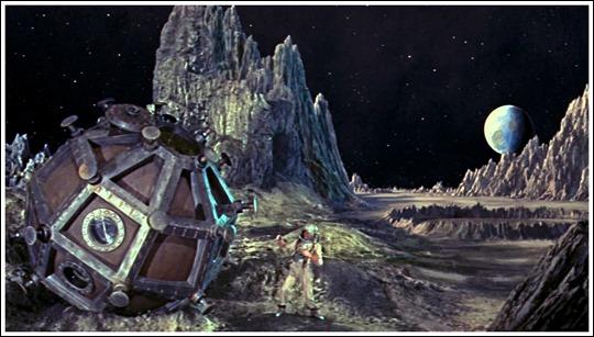 Bonita imagen lunar de La gran sorpresa, la adaptación estadounidense de Los primeros hombres en la luna, de Wells