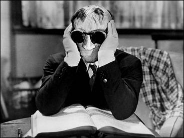Claude Rains, el hombre invisible del film de 1933 dirigido por James Whale