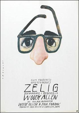 Curioso cartel polaco de Zelig, de Woody Allen