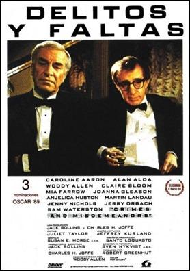 Delitos y faltas, con Martin Landau y Woody Allen en su poster