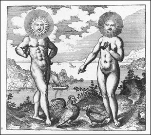 Grabado procedente del tratado alquimista Atalanta fugiens