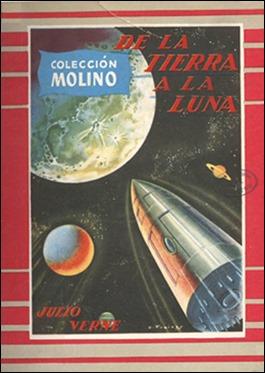 Portada de Emilio Freixas para la edición Molino de De la Tierra a la Luna