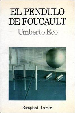 Primera edición española de El péndulo de Foucault, en Lumen