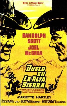 Cartel español de Duelo en la alta sierra