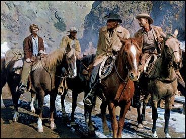 El cuarteto protagonista de Duelo en la alta sierra