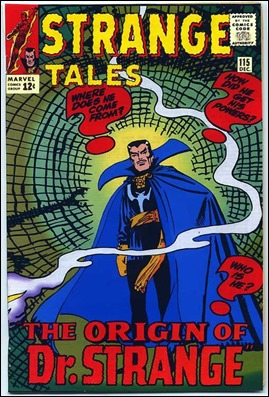 Falsa portada de una reedición de Strange Tales, pues la ilustración procede en realidad del interior del 115 de la primera edición