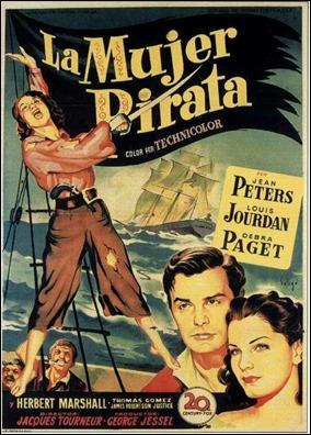 Cartel español de La mujer pirata