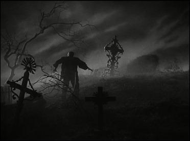 El monstruo de Frankenstein en su lugar natural, el cementerio