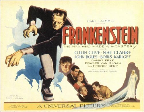 Excelente poster norteamericano de El doctor Frankenstein