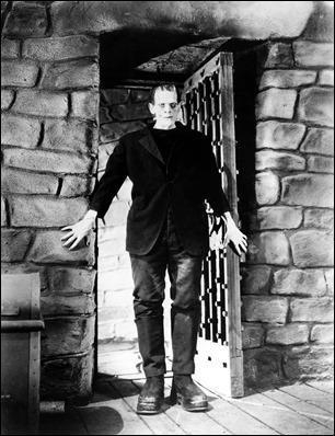 Foto promocional de Boris Karloff en el primer Frankenstein