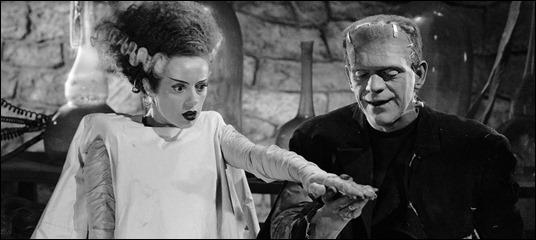 Magnífica imagen de la pareja de monstruosidades de Frankenstein