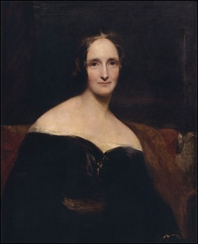 Retrato de Mary Shelley, por Richard Rothwell