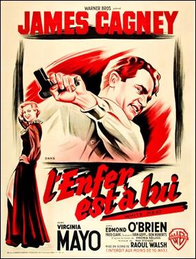 Cartel francés de Al rojo vivo, que lo rebautiza como El infierno está en él