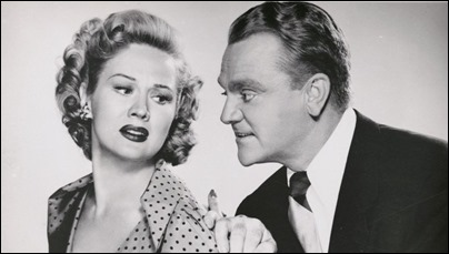 Cody Jarrett y su infiel esposa Velma, o sea, James Cagney y Virginia Mayo