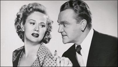 Cody Jarrett y su infiel esposa Velma, o sea, James Cagney y Virginia Mayo