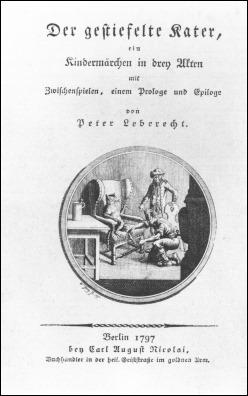 Edición de El gato con botas de Tieck, en Berlín, 1797