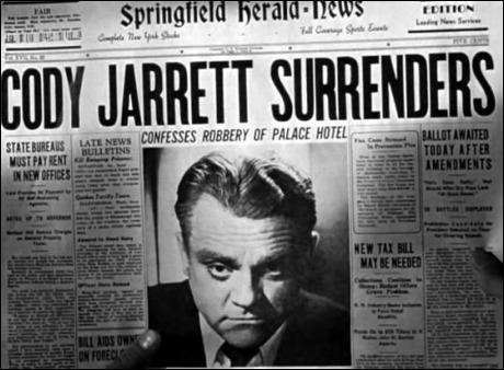 El rostro de James Cagney en Al rojo vivo, desde luego, asusta