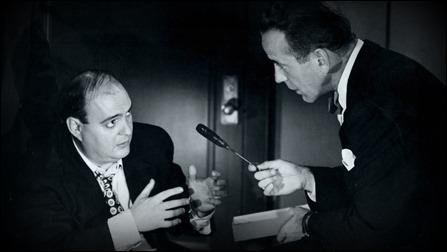 Espléndido Zero Mostel frente a Bogart, en Sin conciencia