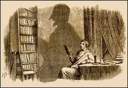 Estupenda ilustración de Vilhelm Pedersen para La sombra, de Andersen