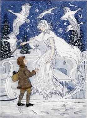 Ilustración para La reina de las nieves, de Andersen