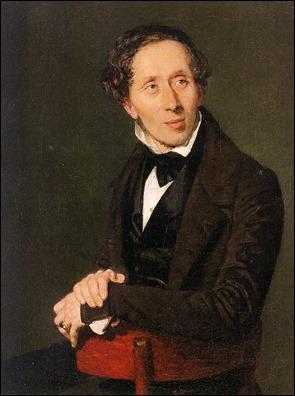 Retrato de Andersen de 1838 por H. A. Jensen