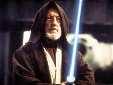 El gran Alec Guinness como el anciano Ben Kenobi