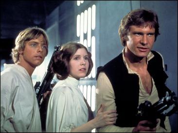 El inmortal trío formado por Luke Skywalker, la princesa Leia y Han Solo