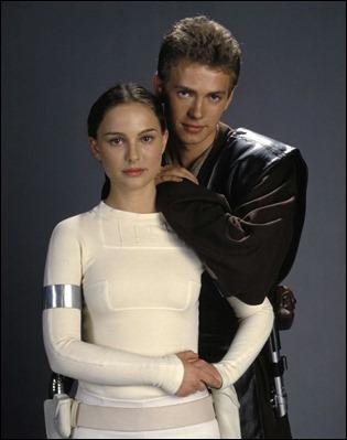 Inocuos Natalie Portman y Hayden Christensen como Amidala y Anakin