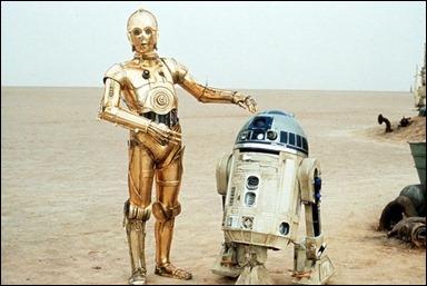 La imagen promocional más característica de C3PO y R2 D2