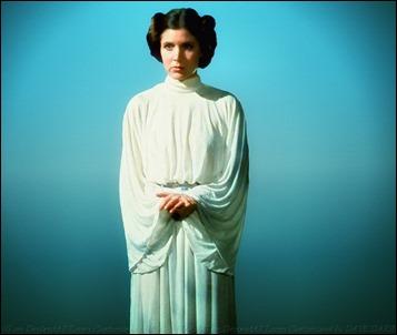 La mejor Leia, con túnica y rodelas