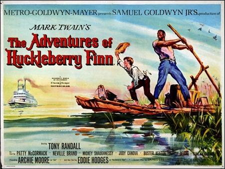 Poster de la estimable versión de Huckleberry Finn realizada por Michael Curtiz en 1960