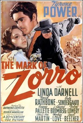 Cartel anunciador de El signo del Zorro