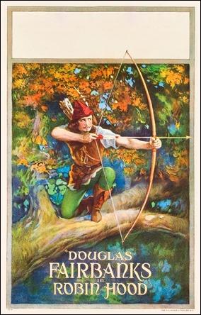 Cartel anunciador del Robin Hood de Douglas Fairbanks