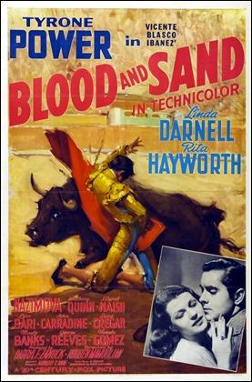 Estupendo cartel de Sangre y arena, versión de 1941
