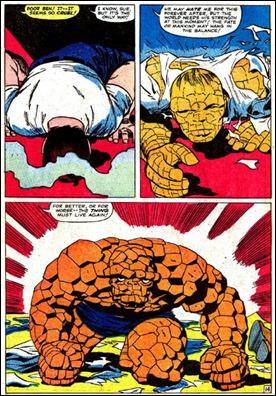 Mítica viñeta de Fantastic Four 40 con Ben Grimm volviendo a ser La Cosa
