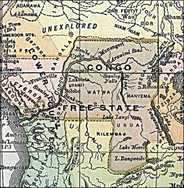 El Estado Libre del Congo, hacia la época en que lo visitó Joseph Conrad