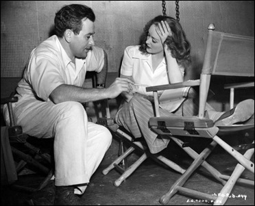 Famosa fotografía de Bette Davis con William Wyler