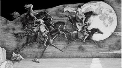 La cabalgata de Margarita como bruja, en la novela de Bulgakov