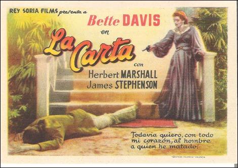 Poster español de La carta